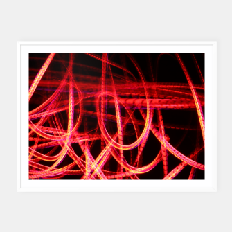 Miniature de image de Abstract red and orange light effect Framed poster, Live Heroes