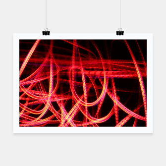 Miniature de image de Abstract red and orange light effect Poster, Live Heroes