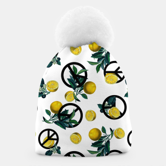 Miniaturka Peace Symbol and Lemon Patterns Beanie, Live Heroes