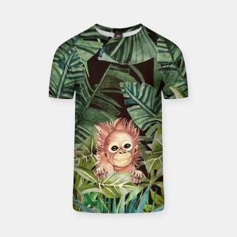 Thumbnail image of Little monkey in the jungle Camiseta, Live Heroes