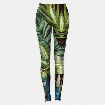 Thumbnail image of Little monkey in the jungle Leggings, Live Heroes