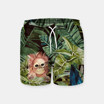 Miniature de image de Little monkey in the jungle Pantalones de baño, Live Heroes
