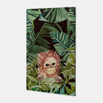 Thumbnail image of Little monkey in the jungle Canvas, Live Heroes