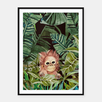 Miniatur Little monkey in the jungle Cartel con marco, Live Heroes