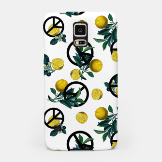 Miniaturka Peace Symbol and Lemon Patterns Samsung Case, Live Heroes