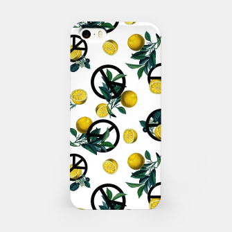 Thumbnail image of Peace Symbol and Lemon Patterns iPhone Case, Live Heroes