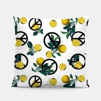 Miniaturka Peace Symbol and Lemon Patterns Pillow, Live Heroes