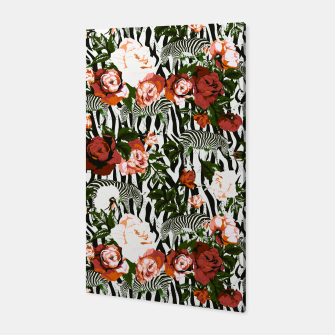 Thumbnail image of Zebras among roses Canvas, Live Heroes