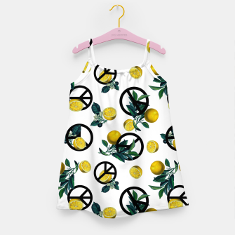 Miniaturka Peace Symbol and Lemon Patterns Girl's dress, Live Heroes