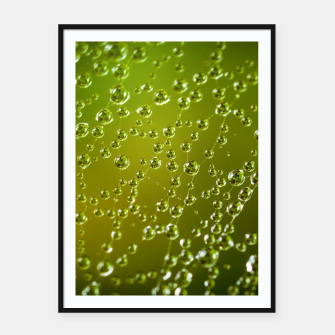 Miniatur water drops  Framed poster, Live Heroes