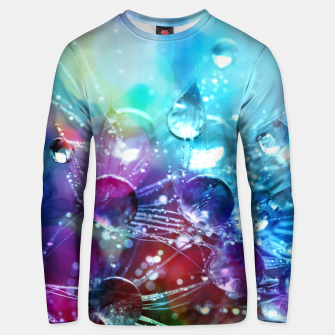 Colorful water drops  Unisex sweater thumbnail image