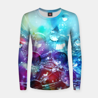 Colorful water drops  Women sweater thumbnail image