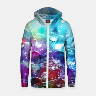 Colorful water drops  Zip up hoodie thumbnail image