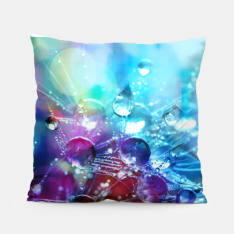 Colorful water drops  Pillow thumbnail image