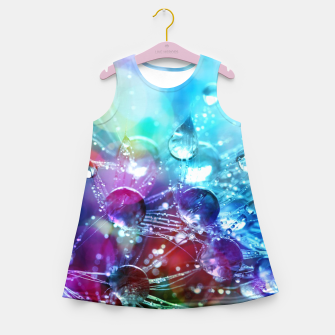 Colorful water drops  Girl's summer dress thumbnail image