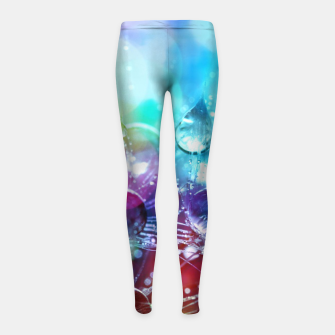 Colorful water drops  Girl's leggings thumbnail image
