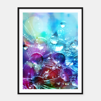 Colorful water drops  Framed poster thumbnail image