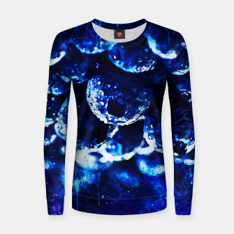 Miniaturka gxp blueberry blue berries pattern splatter watercolor  Women sweater, Live Heroes