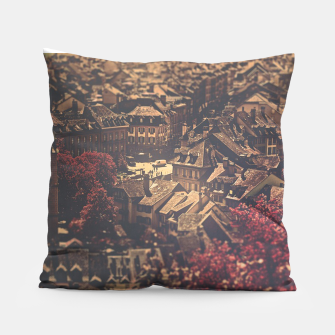 Thumbnail image of City scape Pillow, Live Heroes