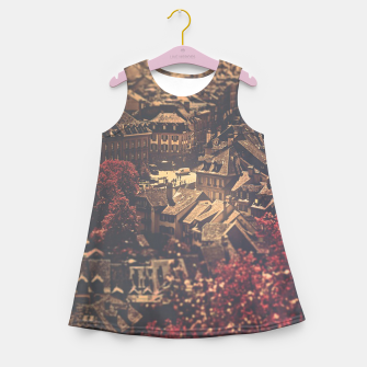 Thumbnail image of City scape Girl's summer dress, Live Heroes