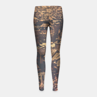 Thumbnail image of City scape Girl's leggings, Live Heroes