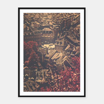Thumbnail image of City scape Framed poster, Live Heroes