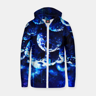 Miniaturka gxp blueberry blue berries pattern splatter watercolor  Zip up hoodie, Live Heroes