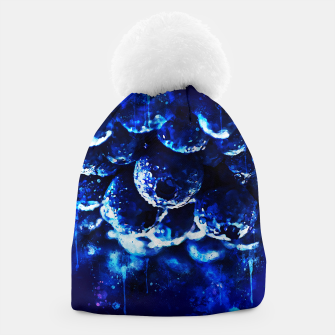 Miniaturka gxp blueberry blue berries pattern splatter watercolor  Beanie, Live Heroes
