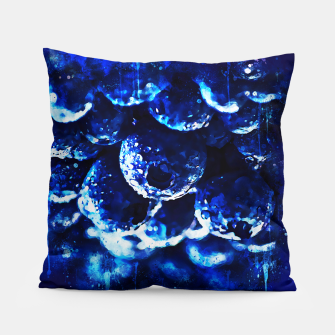 Miniaturka gxp blueberry blue berries pattern splatter watercolor  Pillow, Live Heroes