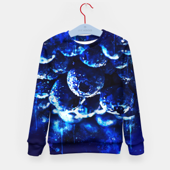 Miniaturka gxp blueberry blue berries pattern splatter watercolor  Kid's sweater, Live Heroes
