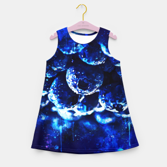 Miniaturka gxp blueberry blue berries pattern splatter watercolor  Girl's summer dress, Live Heroes