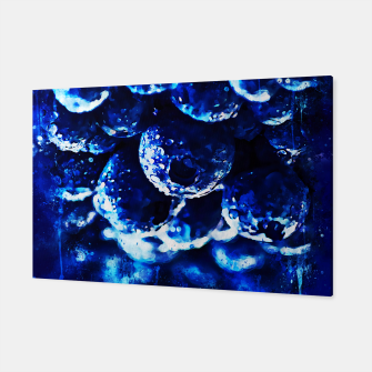 Miniaturka gxp blueberry blue berries pattern splatter watercolor  Canvas, Live Heroes