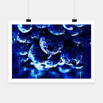 Miniaturka gxp blueberry blue berries pattern splatter watercolor  Poster, Live Heroes