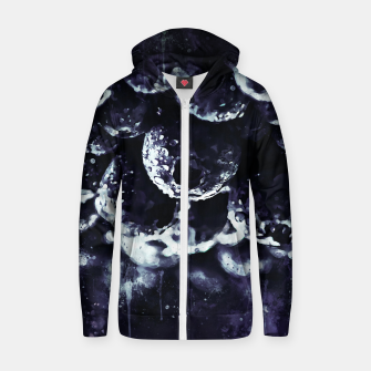 Miniaturka gxp blueberry blue berries pattern splatter watercolor deep purple Zip up hoodie, Live Heroes