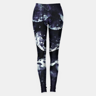 Miniaturka gxp blueberry blue berries pattern splatter watercolor deep purple Leggings, Live Heroes