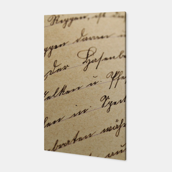 Thumbnail image of vintage letter Canvas, Live Heroes