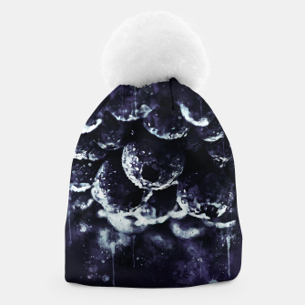 Miniaturka gxp blueberry blue berries pattern splatter watercolor deep purple Beanie, Live Heroes