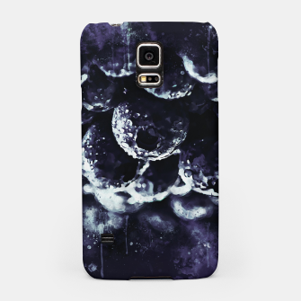 Miniaturka gxp blueberry blue berries pattern splatter watercolor deep purple Samsung Case, Live Heroes