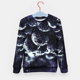 Miniaturka gxp blueberry blue berries pattern splatter watercolor deep purple Kid's sweater, Live Heroes
