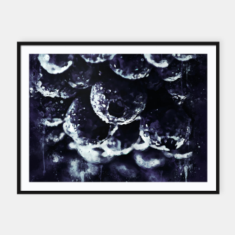 Miniaturka gxp blueberry blue berries pattern splatter watercolor deep purple Framed poster, Live Heroes