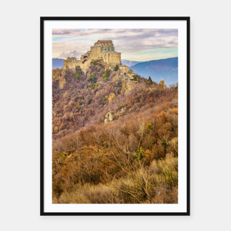 Miniature de image de San Michele Sacra Abbey at Pichiriano Mountain Framed poster, Live Heroes