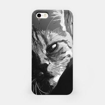 Thumbnail image of gxp set your cat free vector art black white iPhone Case, Live Heroes