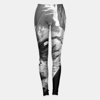 Miniaturka gxp set your cat free vector art black white Leggings, Live Heroes