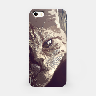 Thumbnail image of gxp set your cat free vector art natural iPhone Case, Live Heroes