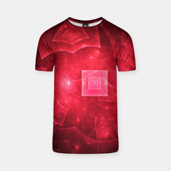 Thumbnail image of Red Square Universe Abstract Fractal Art Design T-shirt, Live Heroes