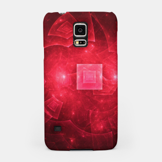 Thumbnail image of Red Square Universe Abstract Fractal Art Design Samsung Case, Live Heroes