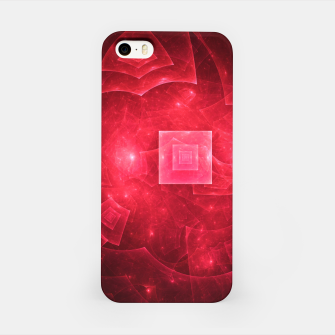 Thumbnail image of Red Square Universe Abstract Fractal Art Design iPhone Case, Live Heroes