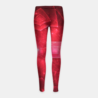 Thumbnail image of Red Square Universe Abstract Fractal Art Design Girl's leggings, Live Heroes
