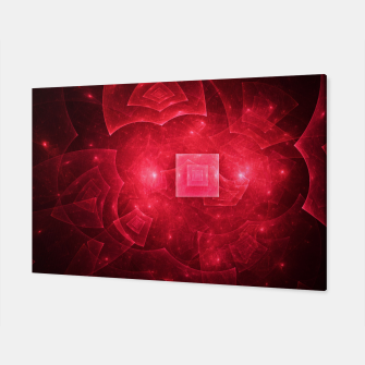 Thumbnail image of Red Square Universe Abstract Fractal Art Design Canvas, Live Heroes