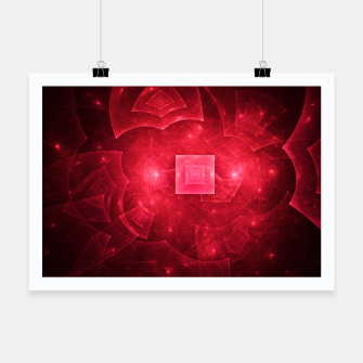 Thumbnail image of Red Square Universe Abstract Fractal Art Design Poster, Live Heroes